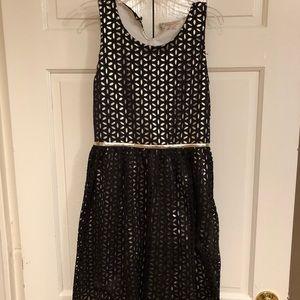 Xhilaration black and gold dress 14-16